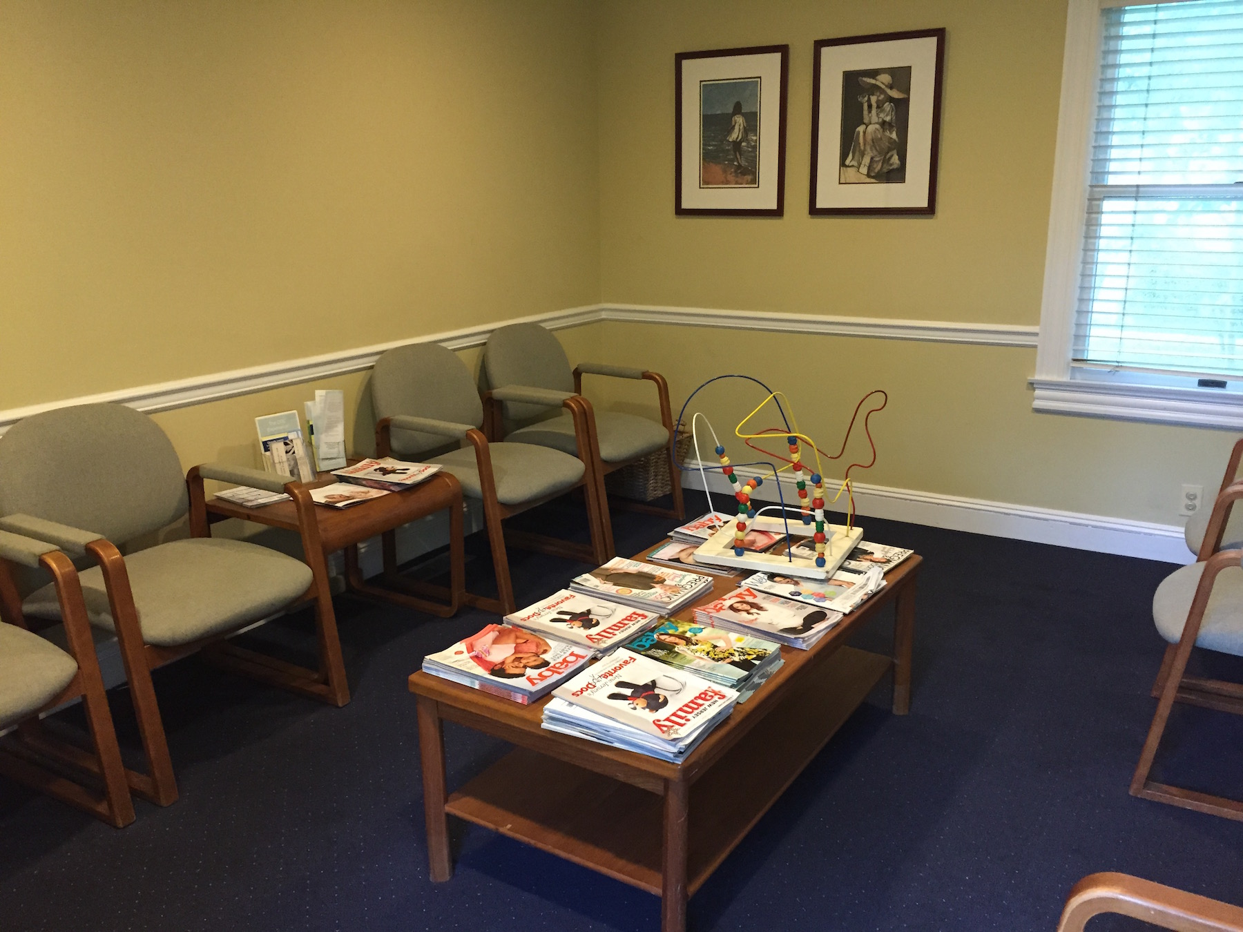 The Waiting Room. Pediatric Associates of Westfield, NJ