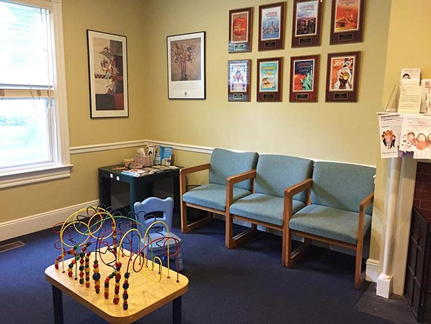 Waiting room for sick children. Pediatric Associates of Westfield, NJ.